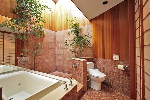 Privacy Bathroom Selection: 13 Inspiring Ideas : Bathroom With An Privacy Wall For The Toilet