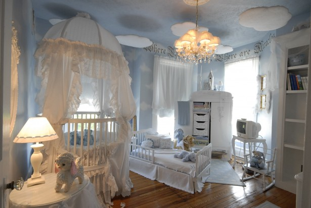 Adorable Nursery Furniture In White Accents For Unisex Babies: Beautiful Blue Baby Bedroom Interior Nursery Furniture Design Ideas ~ stevenwardhair.com Furniture Inspiration