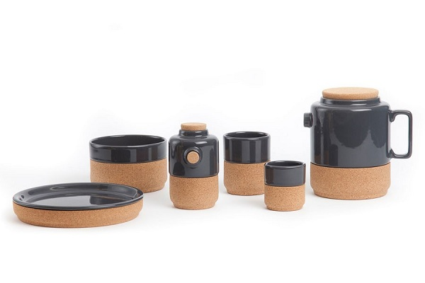 Eco Friendly Cork Design As Furniture For Your House : Beautiful Corkway Cork Whistler Grey Full Set With Modern Style