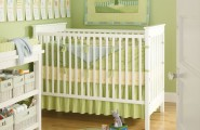 Beautiful Baby Room Ideas Make Comfortable Welcoming : Beautiful Green Baby Room Ideas Round Mirror Laminate Floor