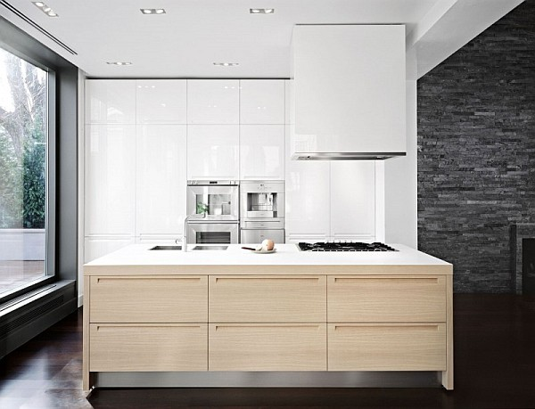 Fascinating Modern House To Apply In Your Own Residence: Beautiful Kitchen Decor With Huge Island