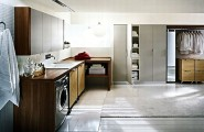 Wonderful Laundry Room With Smart Arrangement To Create Compact Environment : Beautiful Large Laundry Room With Walk In Closet