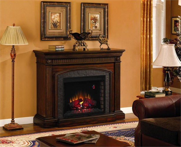 Fireplace Mantel Kits For Your House: Beautiful Living Space Stand Lamp Solid Wood Fireplace Mantel Kits ~ stevenwardhair.com Fireplace Inspiration