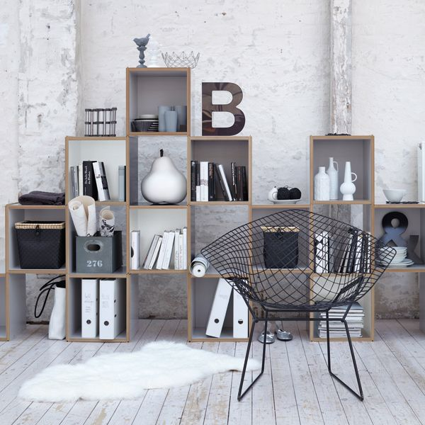 Gorgeous Bookshelf Design For Tidy Room Design : Beautiful Modern Bookcase In Minimalist Swedish Black Wire Chair