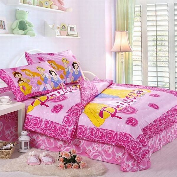 Sweet Princess Comforter With Smooth Comfortable Design : Beautiful Princess Bedding Set In Lovely Light Pink