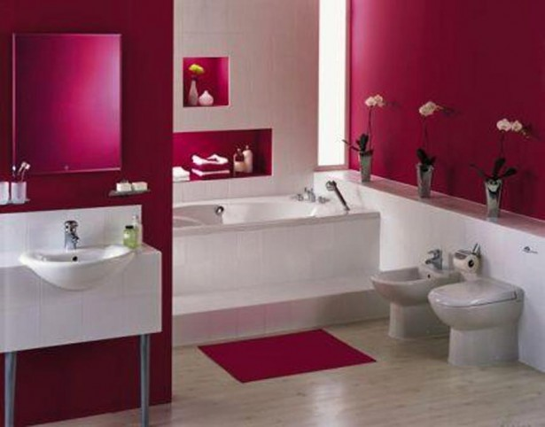 Beautiful Small Bathrooms Illusions And Designs: Beautiful Small Bathrooms Pink With Bathroom Interior Laminate Floor ~ stevenwardhair.com Bathroom Design Inspiration