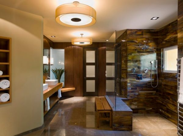 Japanese Bathroom Design: Traditional Touch In Modern Lifestyle: Beautiful Spa Like Asian Bath With Sleek Design