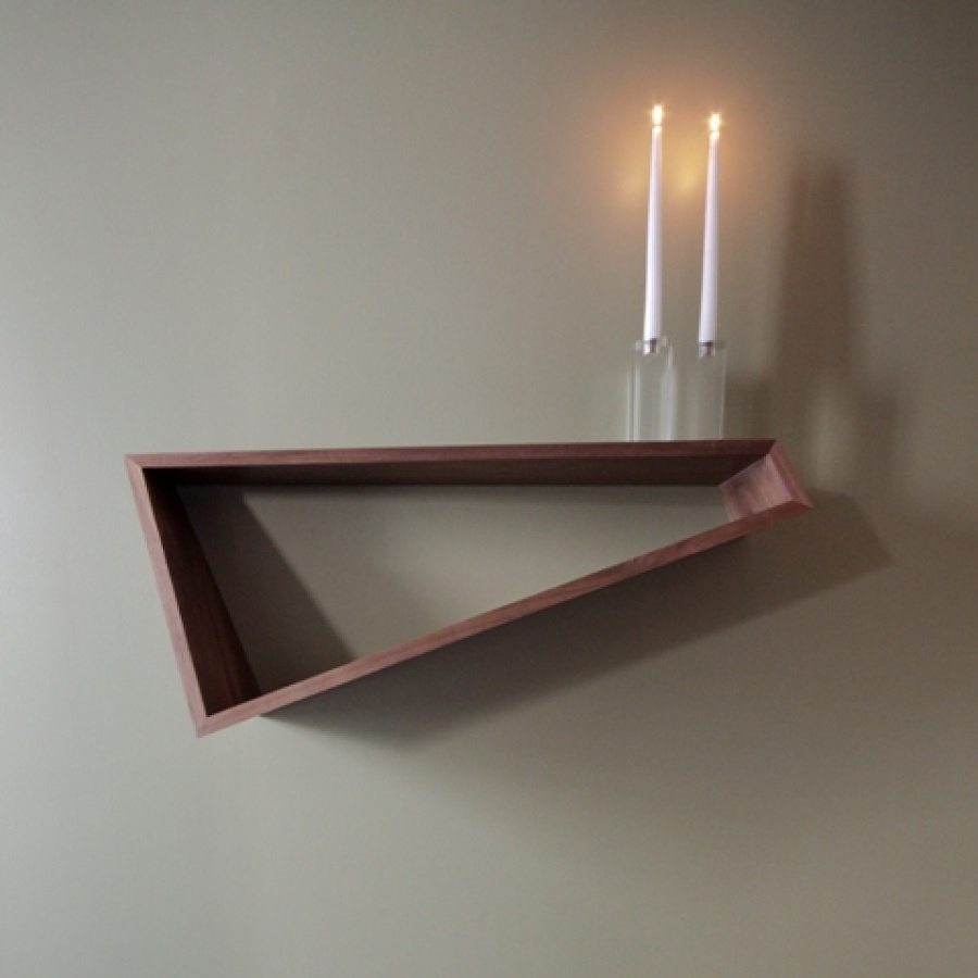 Great Wall Decoration For Contemporary House : Beautiful Triangle Design Wooden Wall Decor