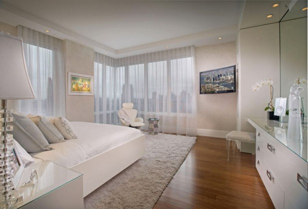 Beautiful Showcase Creating Stylish Interior Impression: Beautiful View Of NYC Skyline From The White Bedroom ~ stevenwardhair.com Interior Design Inspiration