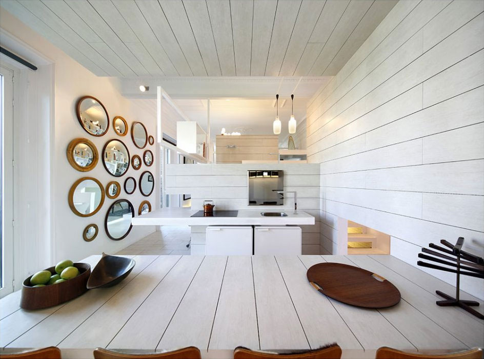Beautiful Ceramic House With White Interior Design : Beauty And Nice Decoration In Ceramic House Madrid Spain