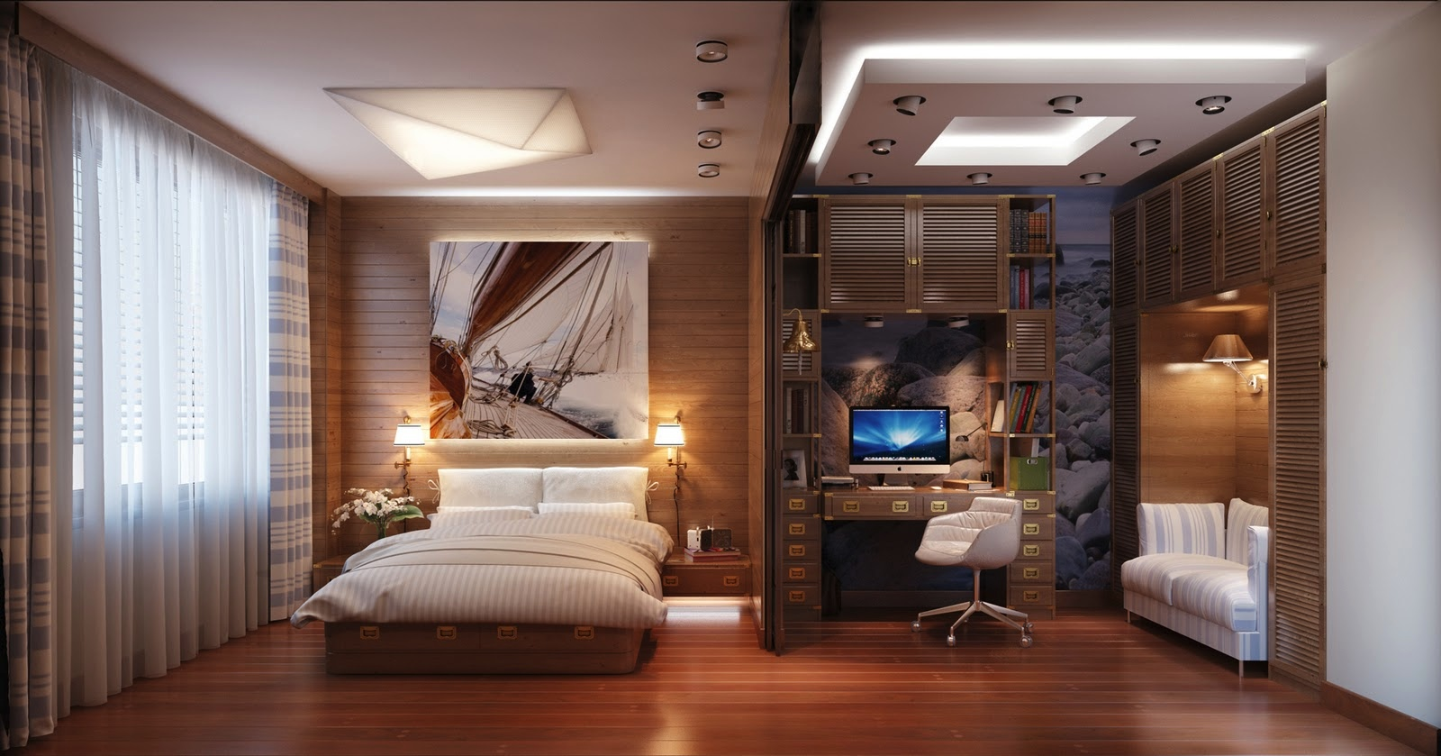 Traveling All Night With Travel Themed Bedroom : Bedroom Home Office