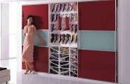 Fashionable Cabinet Designs For Your Shoe Collection : Bedroom Wardrobe Shoe Cabinet