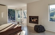 Stunning Inspirations For Home Renovation From Portola Valley House : Bedroom With A View Of The Woods