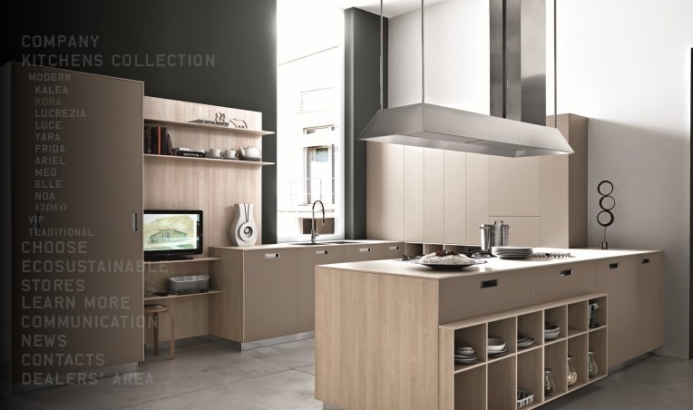 Design Your Own Kitchen Using Unique Colors And Furniture: Beech Modern Kitchen