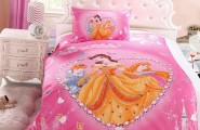 Sweet Princess Comforter With Smooth Comfortable Design : Bejeweled Princess Bed Sheets With Collection Of Disney Princesses