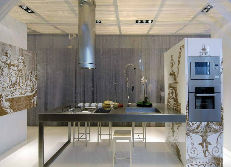Classy Kitchen That Make The Cut: Modern Version: Bespoke Printed Kitchen Cabinets