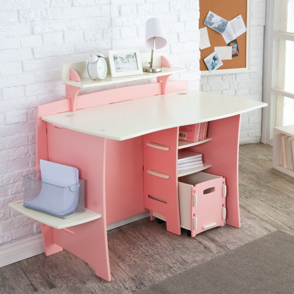 Minimalist Computer Desk For Better Productivity : Best Modern Computer Furniture With Pretty Pink Modern Computer Desks For Kids