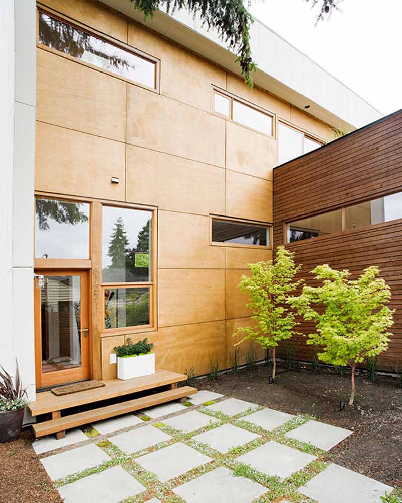 Smart Wooden House For Environment Friendly Living Place: Best Wooden Exterior Design Idea