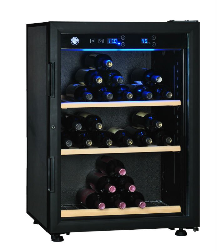 Unique Wine Humidor From Wooden Material: Big Wine Cooler Elegant Wine Humidor Design Ideas