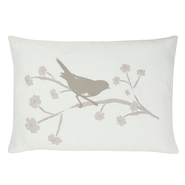 Fresh Throw Pillows For Your Powerful Spring: Bird Motif Cushion