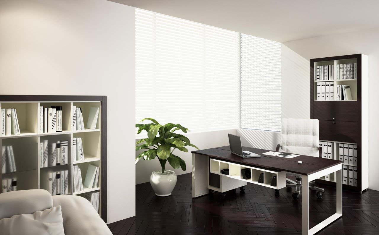 Effective Home Office Area At Your House Corner: Black And White Combination Colour Of Home Office By Zipper On Deviantart