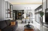 Gorgeous Contemporary Interior Completed Your Home With Nature`s Touch : Black And White Living Room