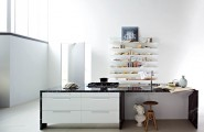 Smart Kitchen Designs With Personality Comes With Stunning Idea : Black Marble Countertops White Units