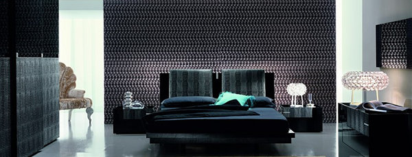 Italian Modern Bedroom Furniture With Aesthetic Drawing: Black Shiny Bedroom Furniture ~ stevenwardhair.com Bedroom Design Inspiration