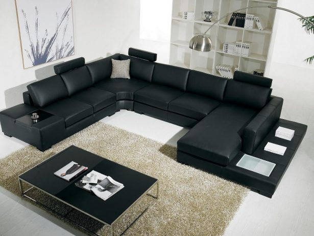Black Sofas For Elegant Home Design: Black Sofas Leather Cushion Sofas Table Fabric Rug ~ stevenwardhair.com Sofas Inspiration