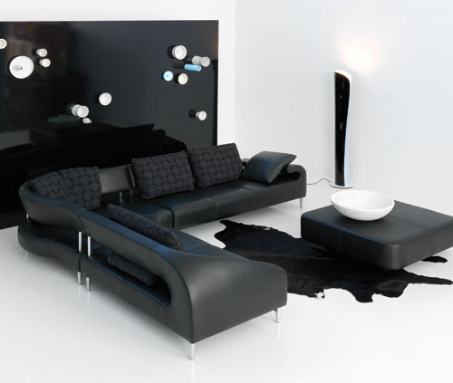 Black Sofas For Elegant Home Design: Black Sofas Modern Standing Lamp Sofa Table Unique Rugs ~ stevenwardhair.com Sofas Inspiration