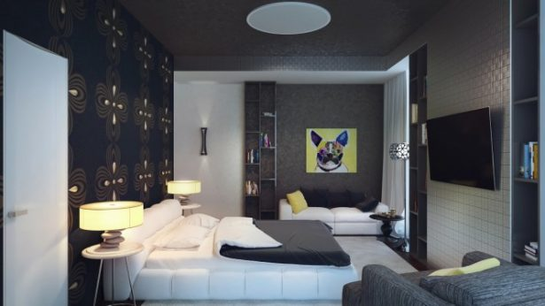 Attention Grabbing Bedroom Walls To Make Your Room Marvelous: Black White Yellow Bedroom ~ stevenwardhair.com Bedroom Design Inspiration