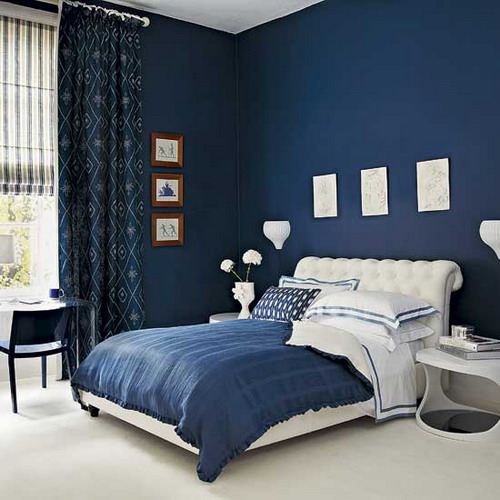 Bedroom Colours For 2014 Inspirations: Blue And White Bedroom Paint Colors Ideas