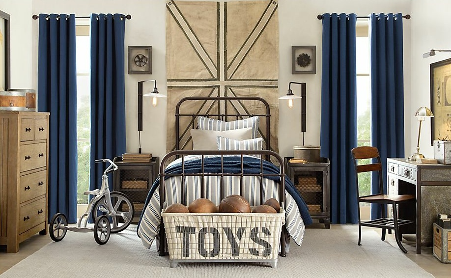 Bedroom Design: Blue Cream Boys Bedroom Decor, Blue Color on the ...