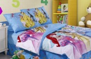 Sweet Princess Comforter With Smooth Comfortable Design : Blue Disney Princesses Complete Bedding Set For Your Kid