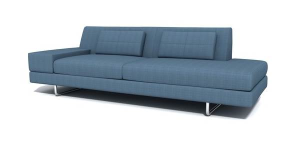 Fancy Colorful Sofa Design Comes With The Various Ideas: Blue One Arm Sectional Sofa