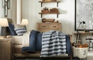 Traditional Boys Room Decoration For Authentic Feel : Blue White Boys Room Scheme