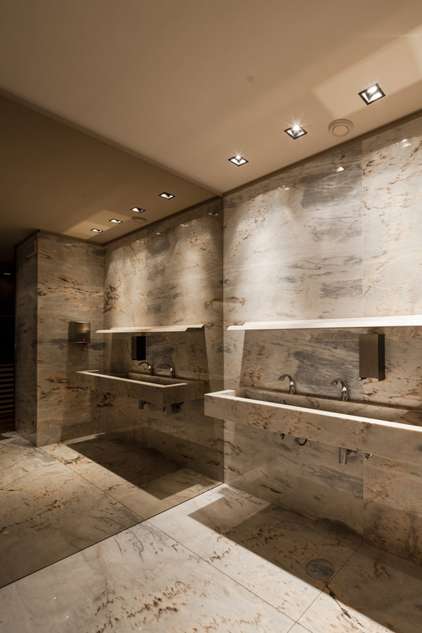 Great Bar Design In Braga, Portugal: Bo Zen Bar Marble Bathroom