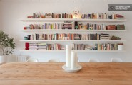 Wonderful Chic Apartment Design With The Vintage Design : Book Shelves Chic Apartment Design