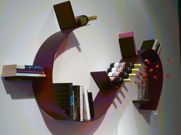 Bookshelf Design Of Spiral Fashion : Bookworm Shelf