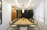 Brilliant Conference Room Design For Your Success : Brazilian Modern Office Interior Design With Long Table