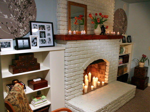 Fireplace Mantel Kits Ideas: Brick Fireplace Mantel Kits