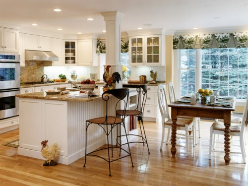 Country Kitchen Designs, Get Warm Feeling: Bright Country Kitchen Design