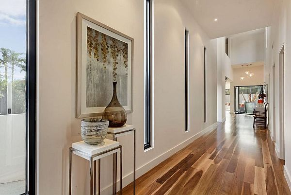 Classy Melbourne Home With Stunning Panorama: Bright Hallway Design ~ stevenwardhair.com Tips & Ideas Inspiration