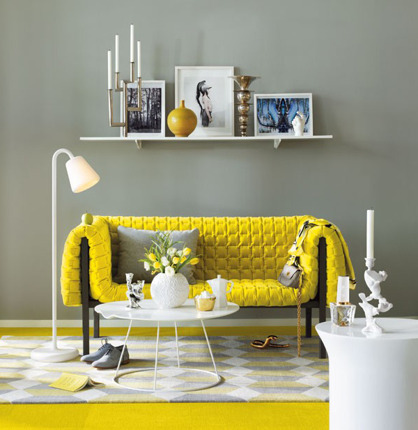 Yellow Sofas And Its Many Designs : Bright Yellow Sofa
