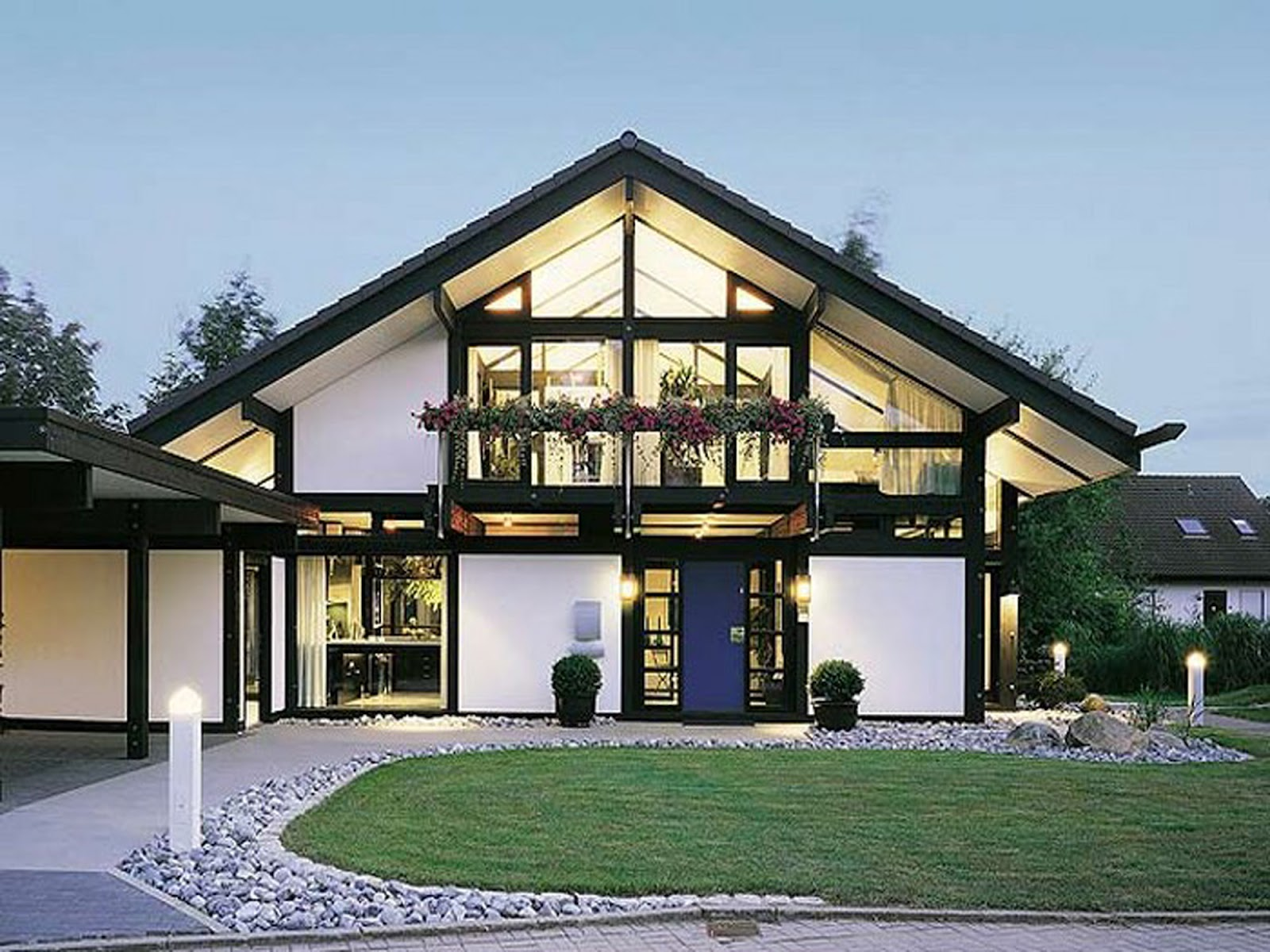 Beautiful New House Designs Contain Cultures From Asia And Europe :  Brillant New House Designs Best