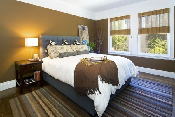 Amazing Headboard Designs For Contemporary Bedroom: Brilliant Modern Bedroom With Gray Tufted Headboard And Chic Zebra Pillows ~ stevenwardhair.com Bedroom Design Inspiration