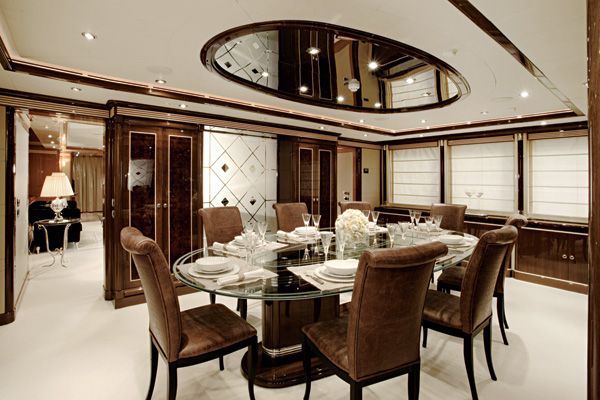Brilliant Contemporary Designs Ideas For Home And Interior: Brown And White Dining Room With Art Deco Elements ~ stevenwardhair.com Contemporary Home Design Inspiration