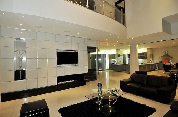 Contemporary South African Living Space With Amber Color Scheme: Cal Kempton Park 6
