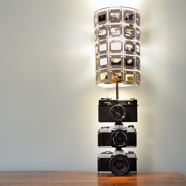 DIY Modern Lamp Design Comes With The Amazing Idea: Camera Shaped Lamp DIY