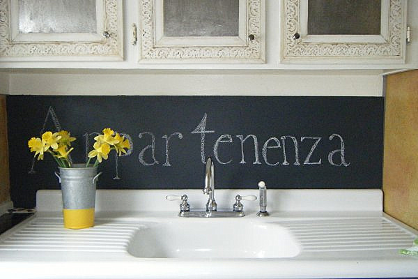 Brilliant Chalkboard Wall Designing Ideas : Chalkboard Paint Backsplash